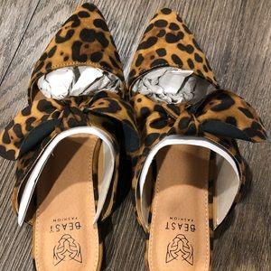 c111cb8c9562 Beast Fashion Shoes - Size 8 Beast Fashion Leopard Mules